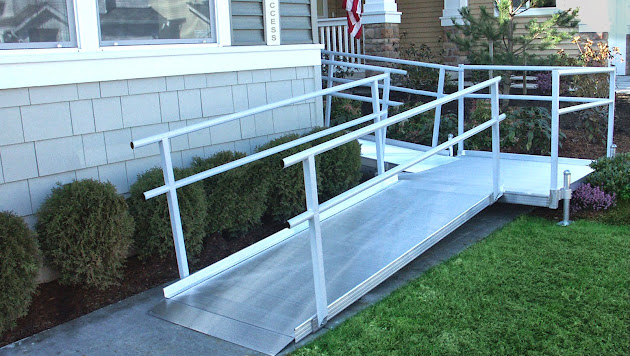Modular wheelchair ramps google for Prefab wheelchair ramp