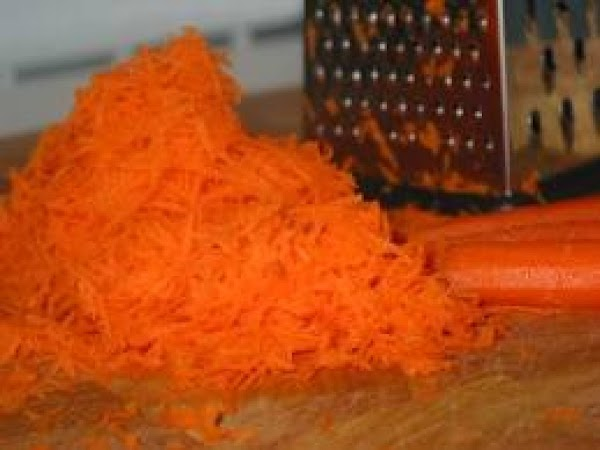Grate carrots, or buy a bag already grated for extra ease. The medium hole...