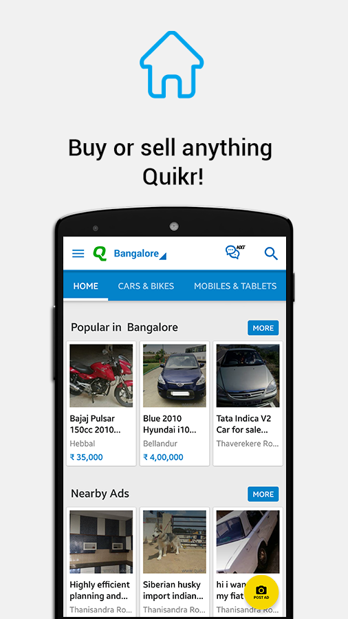Quikr Free Local Classifieds- screenshot