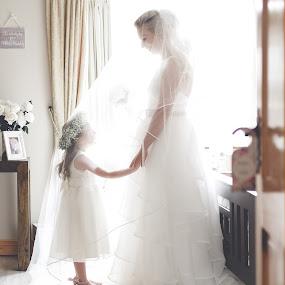 Unforgettable - Bride and Her Daughter  by Kaspars Sarovarcenko - Wedding Bride ( irish wedding photographer, limerick wedding photographer, bride and daughter, bride, flower girl,  )