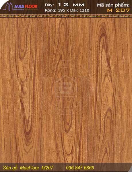 Thông tin sàn gỗ Masfloor m207 của Nội Thất Bảo Châu