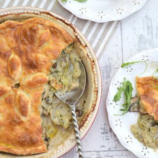 Jerusalem Artichoke, Leek & Mushroom Pie [vegetarian]