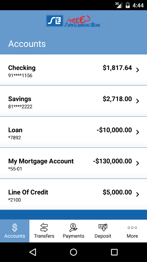South Louisiana Bank Mobiliti™- screenshot