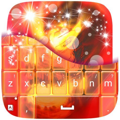 个人化の火災スカルキーボード LOGO-記事Game