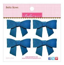 Bella Blvd Bella Felt Bows 4/Pkg - Blueberry UTGÅENDE