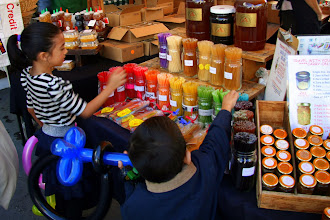 Photo: A honey stand, always a favorite at any farmer's market