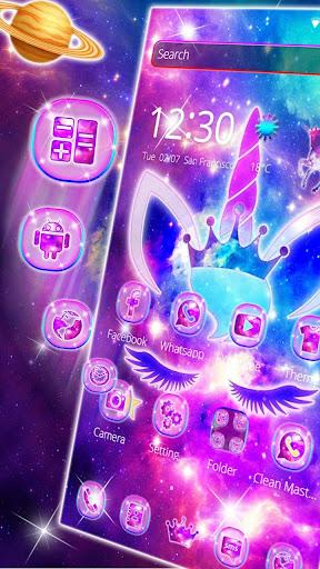 Shiny Galaxy Cute Unicorn Theme ss3