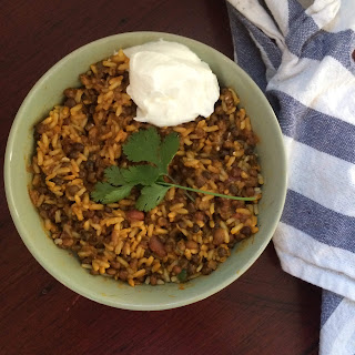 Curried Rice and Lentils.