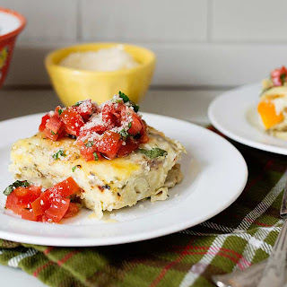 Slow Cooker Italian Breakfast Casserole with Tomato Checca