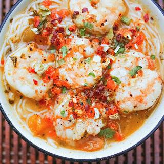 Gluten Free Shrimp Pho with Miso
