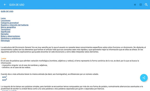 VOX General Spanish Dictionary & Thesaurus- screenshot thumbnail