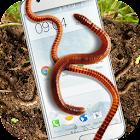 Regenwurm im Handy schleimiger Witz icon