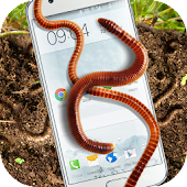 Earthworm in phone slimy joke
