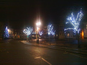 Photo: An opposite view down to the christmas tree lights, the weather quite frost-free for a change.