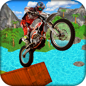 Beach Bike Extreme Trial Racing & Jumping