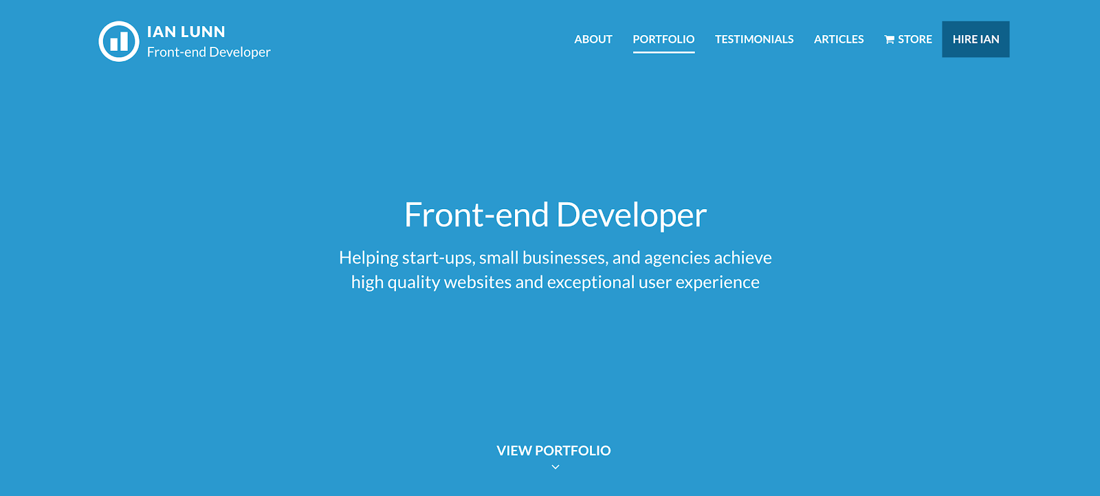 Web Developer Portfolio of Ian Lunn