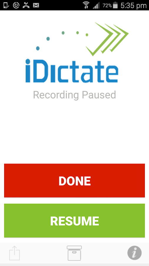 iDictate.com- screenshot