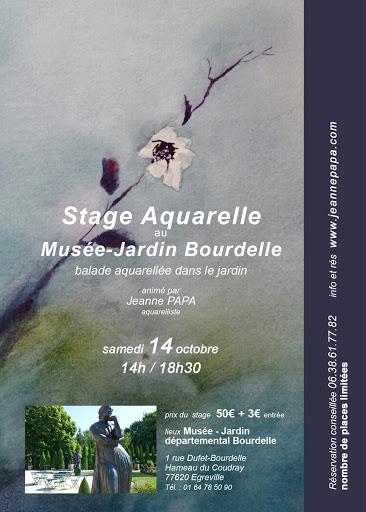 Jeanne PAPA stage aquarelle jardin Musée Bourdelle