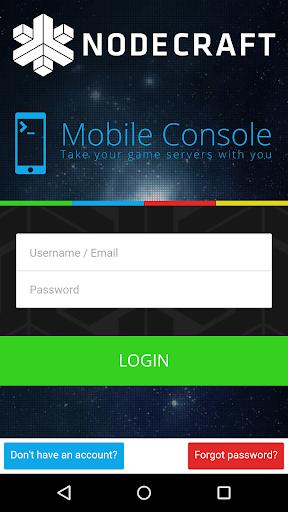 NodeCraft Mobile Console