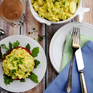 Low Carb Curried Egg Salad.