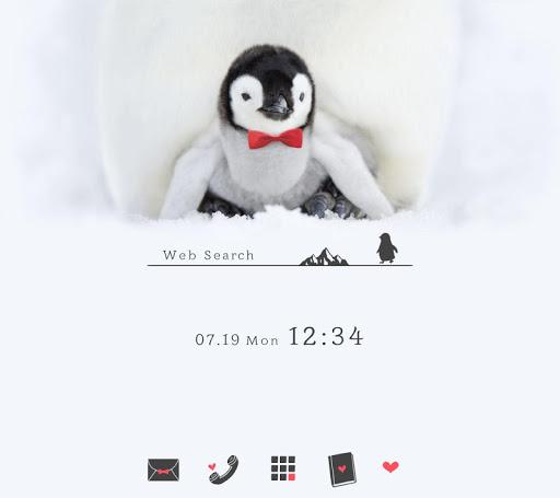 無料壁紙-ペンギンの赤ちゃん-かわいいきせかえ・アイコン