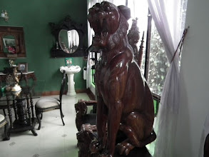 Photo: Thats the lounge room in our King's suite - we were surrounded by lots of antique stuff like this roaring tiger!