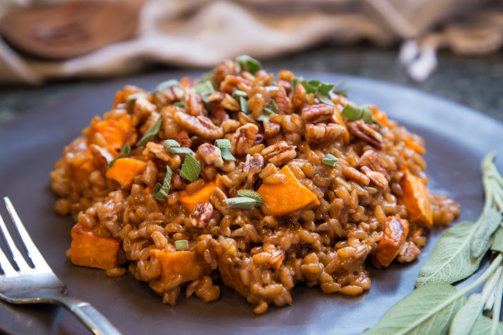 Farro & Sweet Potato Risotto Recipe | Yummly
