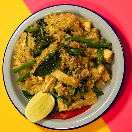 Green Curry Fried Rice (VEGAN option available)