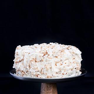Vegan Coconut Chocolate Cake w/ Vanilla Coconut Oil Frosting.
