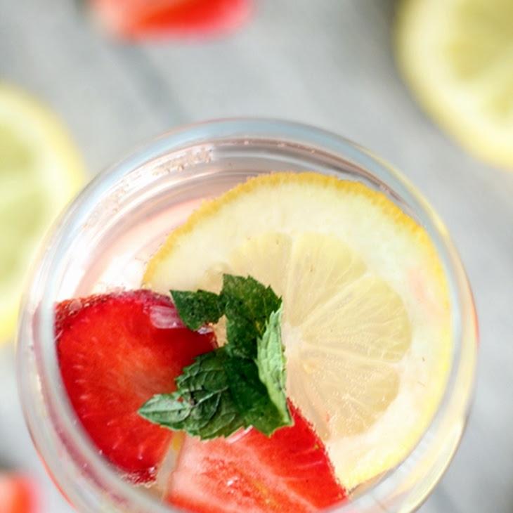 Strawberry Lemon Rosé Sangria Recipe