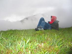 Photo: Kalt, feucht und wolkenverhangen empfangen mich die Dolomiten. [Foto: Conrad Schirmann]