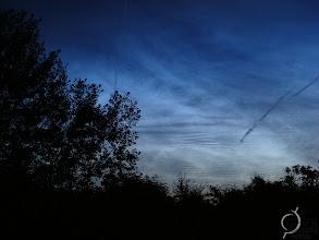 Photo: Noctilucent clouds.