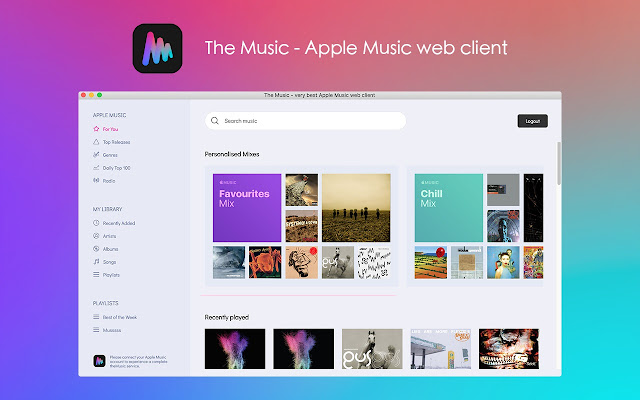 The Music - very best Apple Music web client