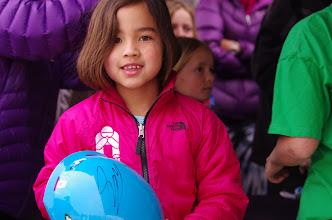 Photo: ...then got her race helmet signed.