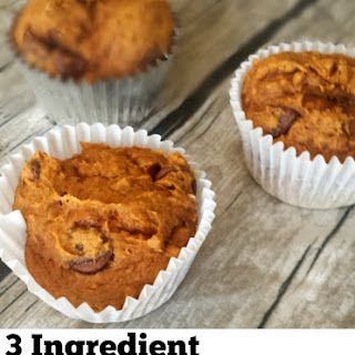 Pumpkin Chocolate Chip Muffins -3 Ingredients