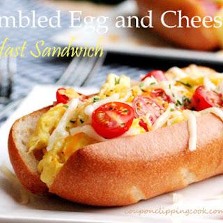Scrambled Egg and Cheese Breakfast Sandwich