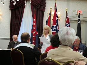 Photo: Sandy Turner delivers speech