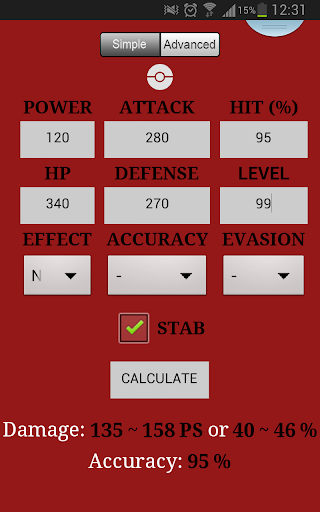 Calculadora de daños Pokémon
