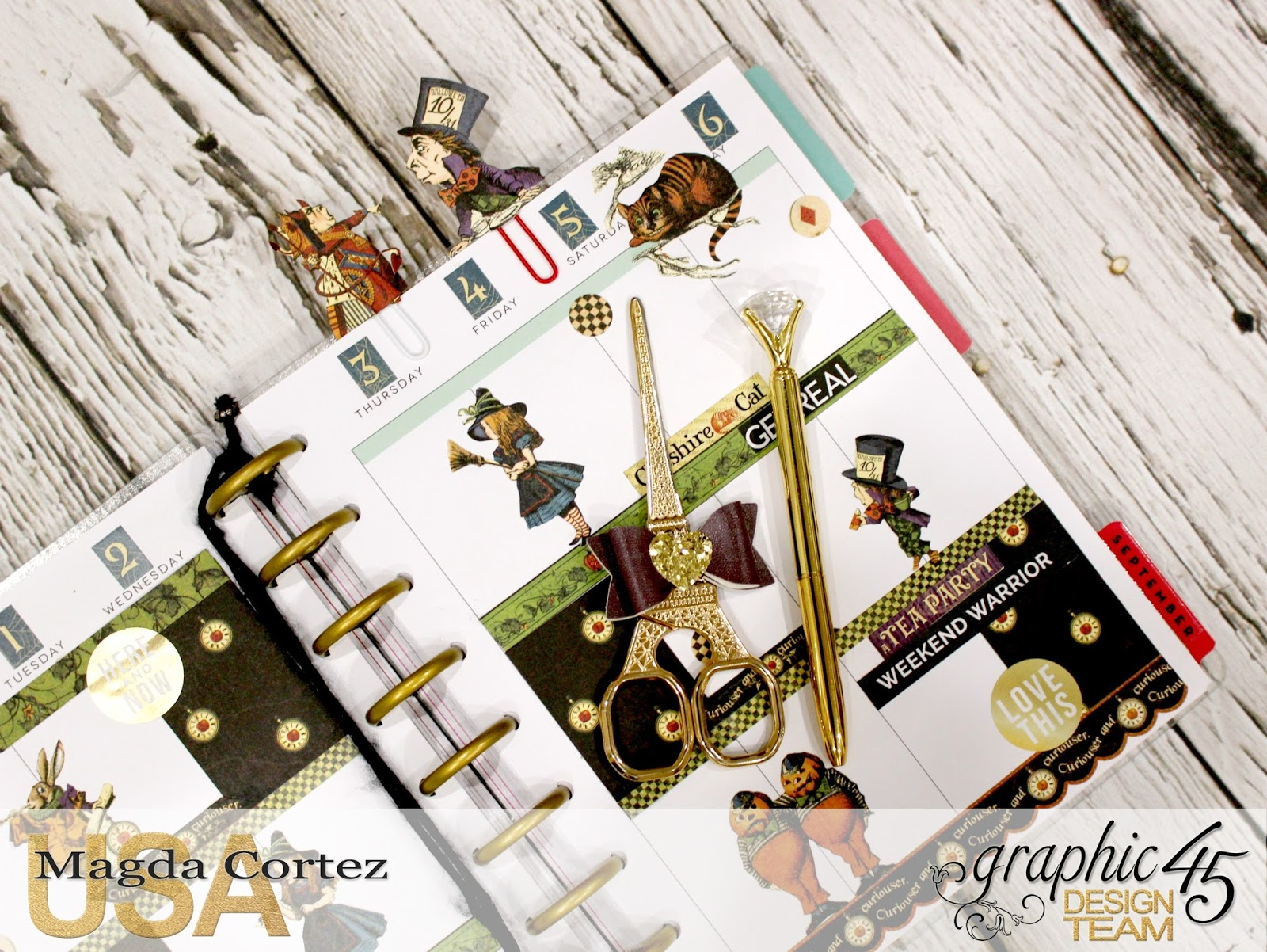 Halloween in wonderland, graphic 45, magda cortez, planner.jpg