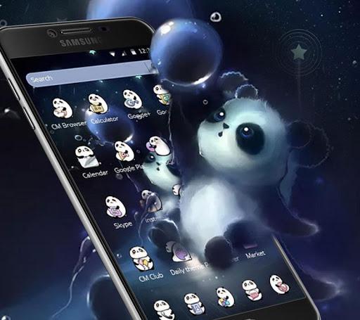 Cartoon Adorable Panda Theme Wallpaper 1.1.5 screenshots 1