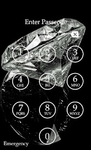 Diamond Keypad Lock Screen screenshot