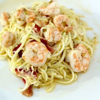 Paleo Noodles with Shrimp and Bacon Recipe