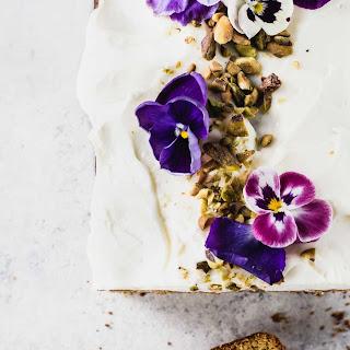 Teff Flour Cardamom Pistachio Cake with Cream Cheese Frosting Recipe