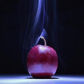 Smokin' hot by Frøydis Folgerø - Food & Drink Fruits & Vegetables ( reflection, apple, hot, smoke, doctor )