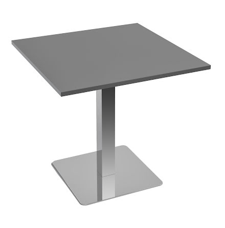 Cafébord 1000x1000 grå