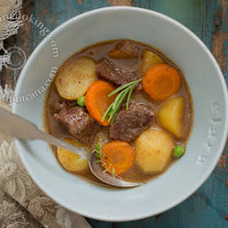 Pressure Cooker Beef Stew with Red Wine.