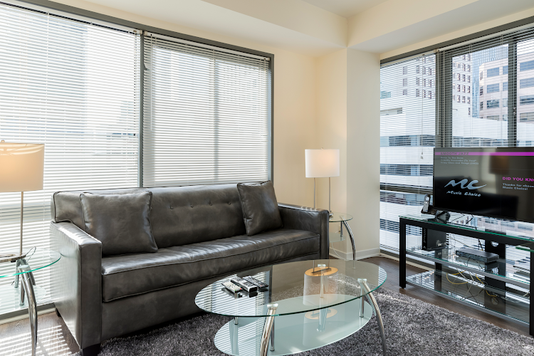 Living room at Global Luxury Suites at Howard Street