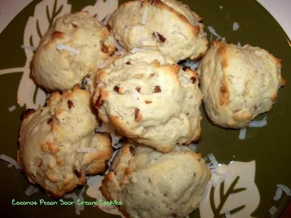 ~ Coconut Pecan Sour Cream Cookies ~