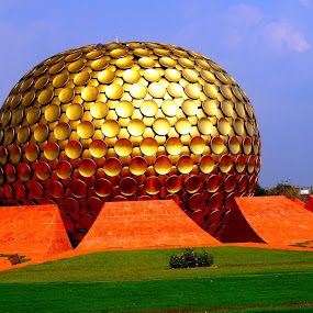 Auroville by Mathangi Jeypal - Novices Only Objects & Still Life ( auroville, maitri mandir, peace, pondicherry, india )