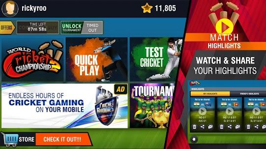 World Cricket Championship 2 MOD 2.7.6 (Unlimited Coins/Unlocked) Apk + Data 8